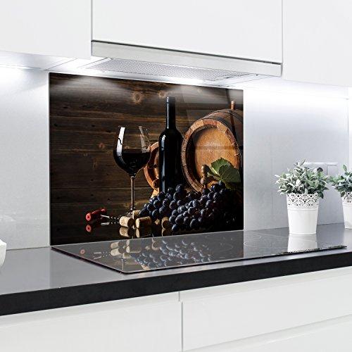 Küchenrückwand aus gehärtetem Glas 90x65 cm Glaspaneel 4 cm Dicke