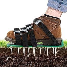 JHNEA Aérateur de pelouse – Scarificateur de Gazon – Semelles de Ventilation pour Gazon Chaussures Manuel – Taille…