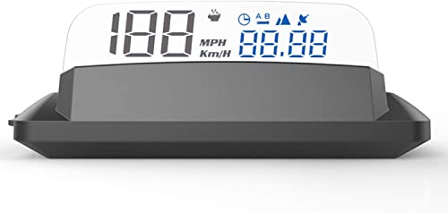 Mallofusa Car HUD Display,5 Inch Screen G3 GPS HUD Head Up Display,USB Supply,Speed Satellite Time Single Travel Distance Altitude Car Digital Windshield Projector for All Vehicles