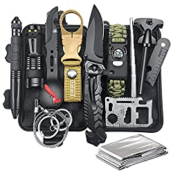 Gifts for Men Dad Husband, Survival Gear and Equipment 12 in 1, Christmas...