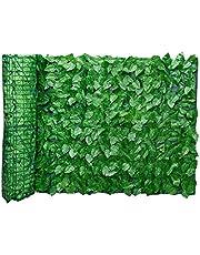 Bladomheining panelen Kunstmatige bladvormige Pollard schutting muur rol Landscaping Outdoor Garden achtertuin balkon hek 0.5x3M