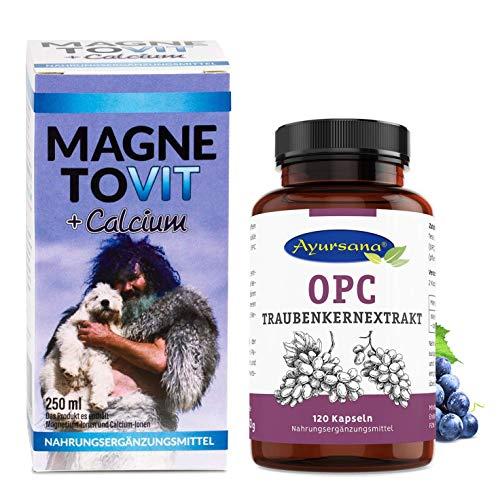 Robert Franz - Magnetovit mit Calcium (250 ml) und Ayursana OPC Traubenkernextrakt (120 Kapseln)