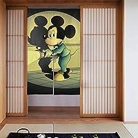 ミッキーマウス のれん 玄関 スクリーン 開閉式 出入り楽々 ドアカーテン 86×143cm 遮光ドア 装飾間仕切り 取付簡単 四季兼用ドア/ベランダ/玄関/勝手口
