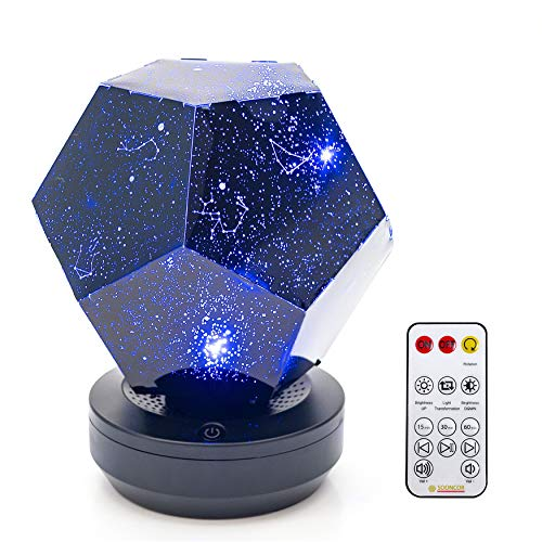 Galaxy Star LED Night Light Projector Bluetooth Music Player Rotating 3 Colours Adjustable Lights USB Cable Rechargeable Remote Control