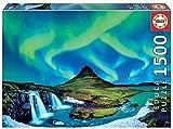 Educa Aurora Boreal en Islandia. Puzzle de 1500 Piezas. Ref. 19041, Multicolor