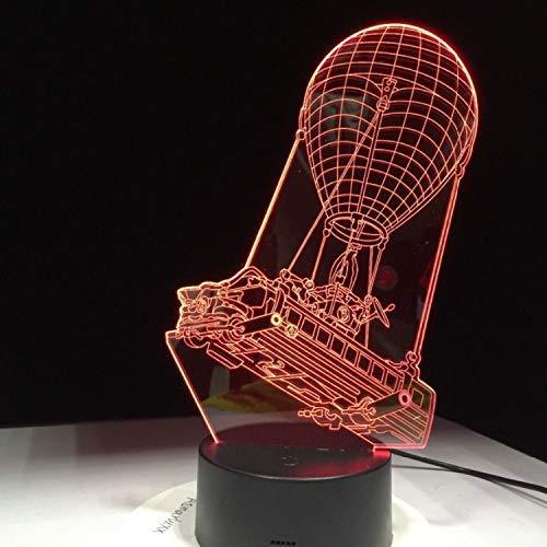 3D LED optische illuslampen nachtlicht Battle Bus spel Mood Light heteluchtballon nachtlampje voor vakantie Decor Gift