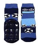 Weri Spezials Baby & Kinder Socke mit ABS 'Fußballspiel', Farbe:Marine, Größe:27/30