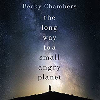 The Long Way to a Small, Angry Planet     Wayfarers, Book 1              Written by:                                                                                                                                 Becky Chambers                               Narrated by:                                                                                                                                 Patricia Rodriguez                      Length: 15 hrs and 41 mins     34 ratings     Overall 4.4