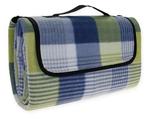 Picknickdecke Karo Strand Decke wasserdicht Picknick 130x170 cm #1527 blau grün