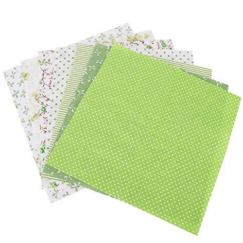 Outbit naaien ambachtelijke doek - 7 stks/set 100% katoen Batiks naaien ambachtelijke doek voor DIY portemonnee kussensloop