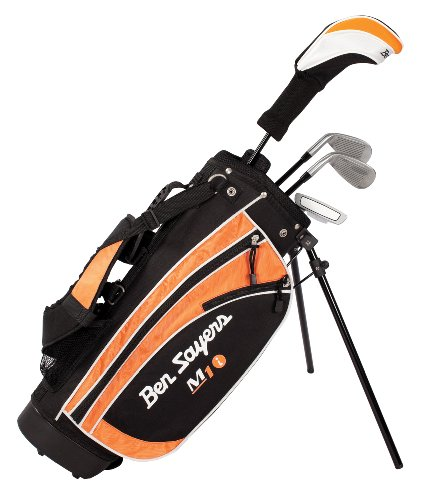 Ben Sayers Right-Handed M1i Junior Package Set with Stand Bag - Orange - 5-8 Years