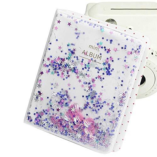 Instax Mini Fotoalbum Transparant Mini Fotoalbum 9.7 * 5.5 * 0.4inch Fotoboek Album, voor Mini Camera 3 inch Fotos(blue)