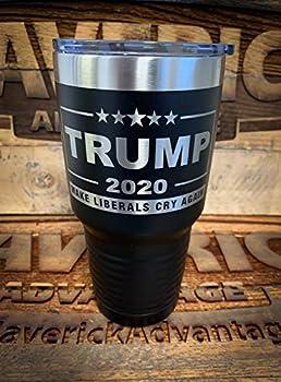 Trump 2020-30oz Insulated Tumbler - MAGA - Make Liberals Cry Again - BLACK