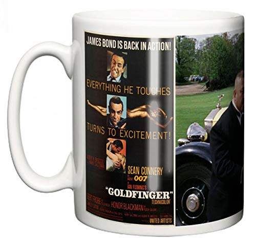 Sean Connery James Bond Goldfinger Tazza in ceramica, film memorabilia, 007 originale film