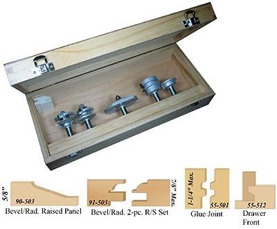 Infinity Tools 00-107, 5-Piece Bevel Kitchen Cabinet Door Making ...