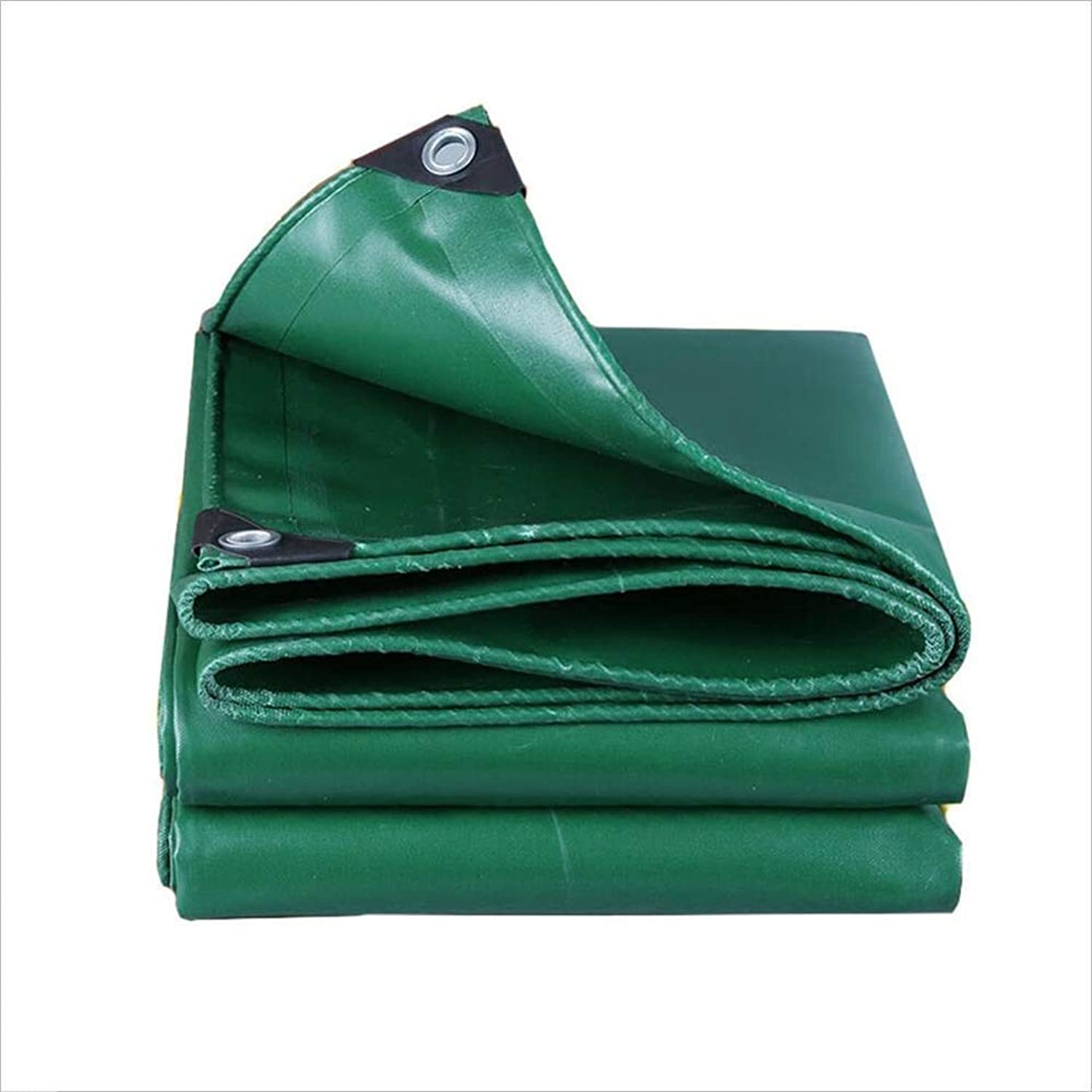 Multifunctional Tarpaulin Camping Windproof Cloth Swimming Pool Durable Waterproof Tarpaulin UV Predection Green 250G M2 (Size   5mx6m)
