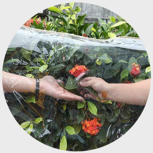 YUDEYU Lona alquitranada Transparente Paño Impermeable 0,35mm de Espesor balcón PVC linóleo (Color : Claro, Size : 50x150cm)