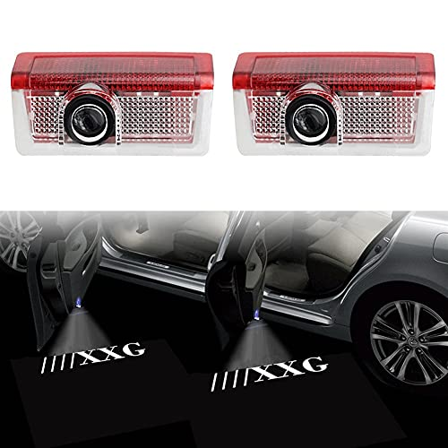 Auto-Tür-Logo Licht 2 x LED Autotürlampe Open Decor Laser Light Ghost Shadow Kompatibel mit Mercedes AMG A B C E GL ML GLA Klasse W176 W246 W246 W212 W213 personalisierte