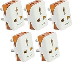 Hi-Plasst (5Pcs) 3 Pin Modular Travel Universal Multiplug,Worldwide Adaptor, for 2 Pin 3Pin Socket Connector-10A 240V