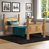 Vida Designs Corona Single Bed, 3 ft, <span class='highlight'>High</span> Foot End Bed Frame, Solid Pine Wood