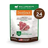 Instinct Limited Ingredient Diet Grain Free Real Lamb Recipe Natural Wet Dog Food Topper by Nature's Variety, 3 oz. Pouches (Case of 24)
