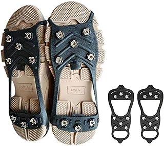 8-tand utomhus anti-drop sko täcke snö is yta glida enkla kramper för vandring på is snö mark berg,L