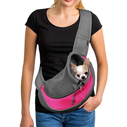 YUDODO Pet Dog Sling Carrier Breathable Mesh Travel Safe Sling Bag Carrier