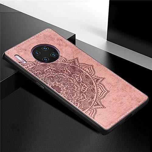 HHF Teléfono móvil Accesorios para Huawei Mate 30 Pro 6.53 Pulgadas, Estilo de Negocios de Moda Estuche de teléfono Duro SHCOKEPT Soft TPU Tabla Cubierta TELÉFONO TELÉFONO para Huawei Mate 30 Pro 5G