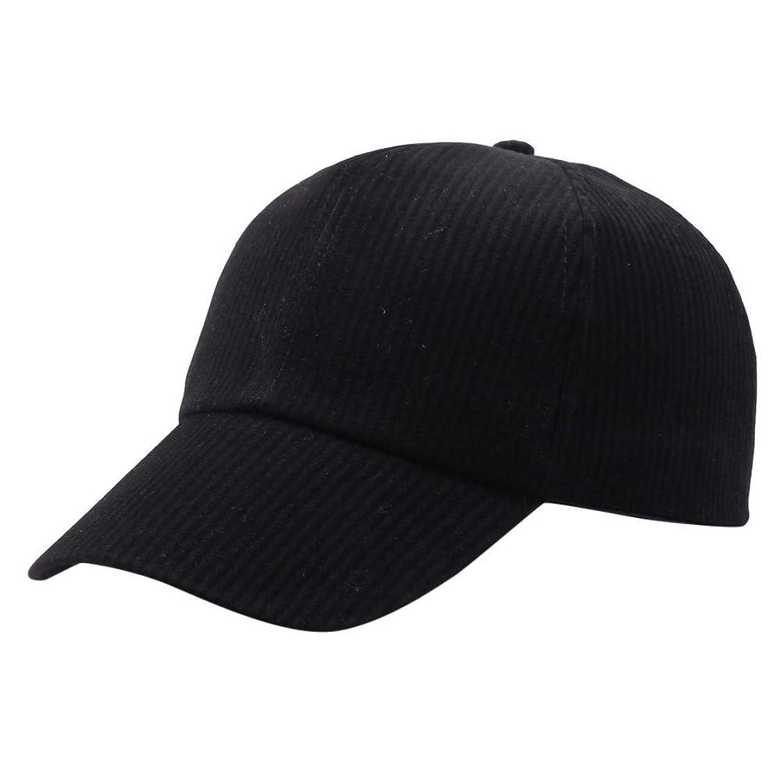 避難するナプキン中でRacazing Cap コーデュロイ 野球帽 迷彩 夏 登山 通気性のある メッシュ 帽子 ベルクロ 可調整可能 ストライプ 刺繍 棒球帽 UV 帽子 軽量 屋外 Unisex Hat (B)