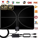 2020 Newest HDTV Antenna, HD Indoor Digital TV Antenna 120 Miles Range with Amplifier Signal Booster...