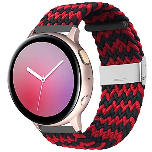 Zoholl Correa elástica de repuesto compatible con Samsung Galaxy Watch Active 2, Samsung Galaxy Watch, pulsera elástica ajustable de 20 mm, cómoda banda para mujeres y hombres