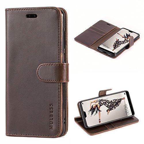 Mulbess Flip Tasche Handyhülle für Huawei P20 Pro Hülle Leder, Huawei P20 Pro Klapphülle, Huawei P20 Pro Handy Hülle, Schutzhülle für Huawei P20 Pro Handytasche, Coffee Braun