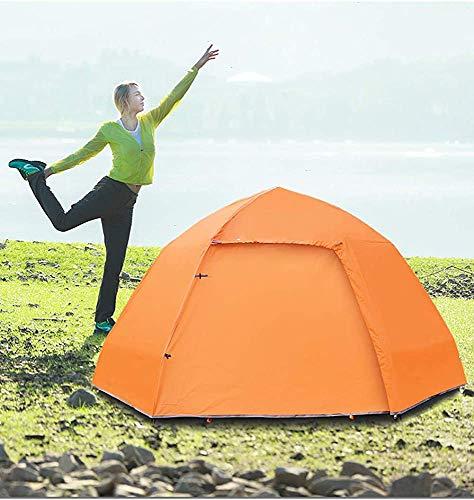 Tienda de camping 5-8 personas tiendas redondas, tiendas de tirar impermeables, tiendas de alquiler de luz, carpas de hogar con bolsa de lluvia,Orange