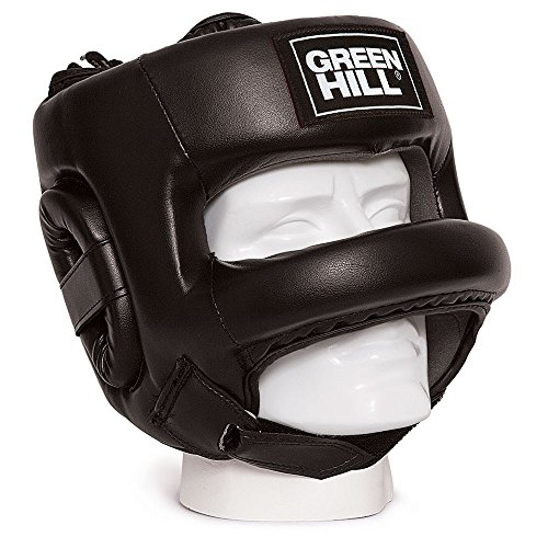 GREEN HILL Casco de boxeo - Modelo Castle - Unisex - Talla para adulto, Unisex adulto, HGC-9014, Negro, Medium