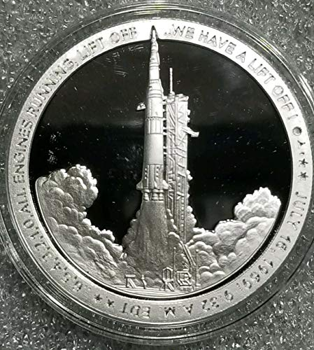Apollo 11 Lift Off Neil Armstrong JFK NASA 50th NEW #1: 1 oz .999 silver proof