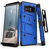 ZIZO Bolt Series for Samsung Galaxy Note 8 Case Military Grade Drop Tested with Tempered Glass Screen Protector Holster Blue Black