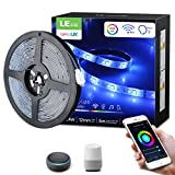 LE RGBW LED Strip Lights, WiFi Smart Waterproof Color Changing LED Strips Works wiith Alexa Google Home, 16.4ft SMD 5050 LED Tape Light for Bedroom, Home and Kitchen