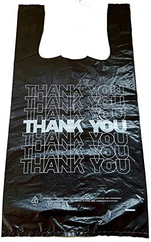 TrustyRushin Thank You Bags with Handles Premium Bulk Baggies for Shopping Retail T Shirts Restaurants product image