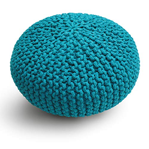 Croci C2178654 Pouf Twist Blu, 45.7 cm