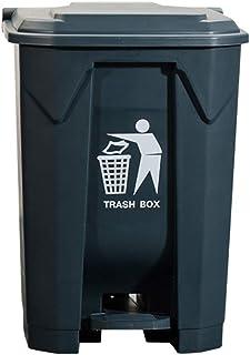 Bacs à Ordures Extérieurs Poubelle 50L, 80L, 100L de poubelle recouverte de plastique couverte d'intérieur en plastique de...