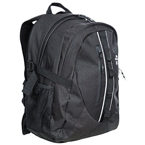 Trespass Deptron, Black, Backpack 30L with Internal Laptop Compartment & Internal Organizer, Black