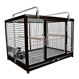Kings Cages Large Aluminium Parrot Travel Carriers CAGE ATM 2029 Bird Cages (Black)