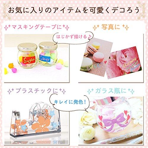 Sakura Fun Writing Gel Ink Roller Ballpoint Pen for Decoration, Decorese Pastel 5 Color Set A, Fruity Color (DB206P5A) Photo #6