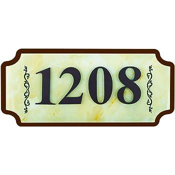 Customized Letter /& Number comboss Solar House Number Plaque Light with 200LM Motion Sensor LED Light Address Number for Home Garden