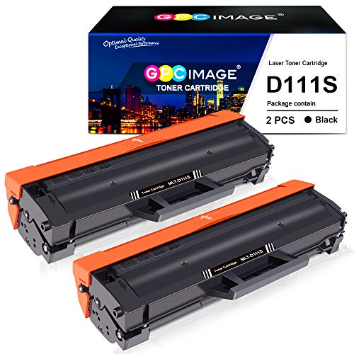 GPC Image D111S Kompatible Toner als Ersatz für Samsung MLT-D111S Patronen für Samsung Xpress M 2026 M2026 M2026W M 2070 SL-M2070 SL-M2070W M2070F M2070FW M2020 M2020W M2022 M2022W (Schwarz, 2er-Pack)