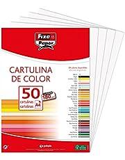 Fixo Paper 11110370 – Paquete de 50, cartulina blanca A4, 180g