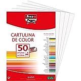 Fixo Paper 11110370  Paquete de 50, cartulina blanca A4, 180g