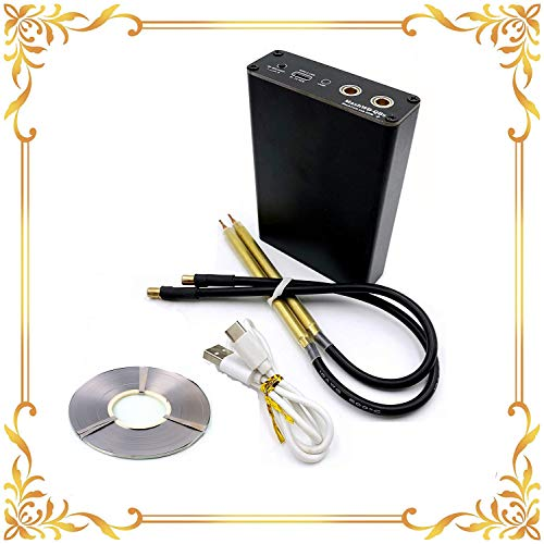Upgrade DIY 18650 Battery Spot Welder- (With 10m Nickel Sheet) Portable Mini Spot Welding Machine Welding Pen Kit Adjustable 5 Gears- With A Charging Cable Third Generation