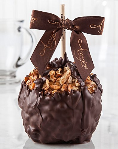 Pecan Turtle Caramel Apple w/ Dark Belgian Chocolate