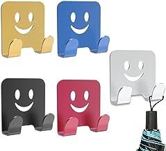 5 Stks Razor Houder Haak, Scheerhouder Haak, Multifunctionele Zelfklevende Aluminium Glimlach Gezicht Haak voor Douche Sch...